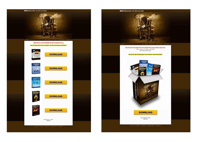 Vorschau Downloadseiten
